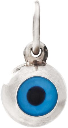Helen Ficalora Evil Eye Mini Charm White Gold. As Seen On: Oprah Winfrey, Julianne Moore, Gwyneth Paltrow, Tina Fey, Anne Hathway, Blake Lively, Jennifer Garner and many more. As Seen In: Ellen, Oprah, Martha Stewart, Glamour, Vogue, People Magazine, The Real Housewives, Steve Harvey, The Price is Right and many more. Made With Real Solid 14k Gold. Made in the United States. *Products May Appear Larger In Photos Than In Person.