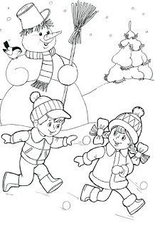 Most Popular Winter Crafts in Our Website - Outdoor Click Coloring Pages Winter, Christmas Coloring Pages, Coloring Book Pages, Coloring Pages For Kids, Coloring Sheets, Christmas Colors, Christmas Crafts, Winter Kids, Winter Colors
