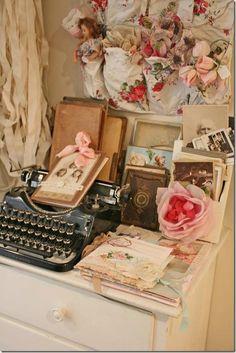 Ink:  Vintage #typewriter and #stationery.