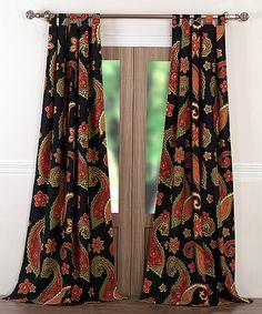 Look at this #zulilyfind! Midnight Paisley Curtain Panel Set #zulilyfinds