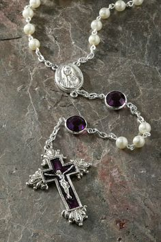 Amethyst Swarovski® Crystal Chanel Rosary – Celebrate Faith