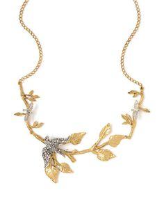"""Miss Ellie Bird and Vine 20"""" Branch Necklace"""