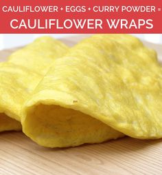Three ingredient cauliflower wraps, plus more amazing three ingredient paleo recipes! #paleo #glutenfree
