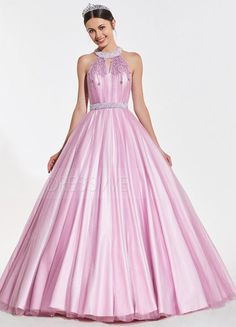 d0ae52d8a3a  172.99 Dresswe.com SUPPLIES Halter Neck Sleeveless Beading Quinceanera  Dress