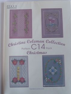 PATTERN PACK C14 BY CHRISTINE COLEMAN      Christmas patterns by Christine Coleman.