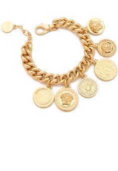 Versace Gold Medusa Coin Bracelet
