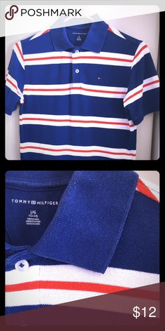 Tommy Hilfiger boys shirt sz 12/14 Great condition!  My son loved this shirt but it was only worn a handful of times.  He grew too fast! Tommy Hilfiger Shirts & Tops Polos