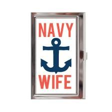 navy wife Business Card Case