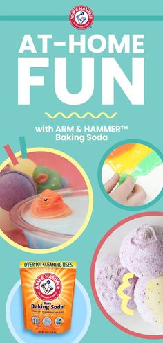 From Bath Fizzies to Tie Dye Slime, there's so much at-home fun to be had with ARM & HAMMER™ Baking Soda. Discover simple DIY projects you can try with your kids.