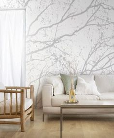 Modern Wallpaper Patterns, Trees and Branches - http://centophobe.com/modern-wallpaper-patterns-trees-and-branches/ -