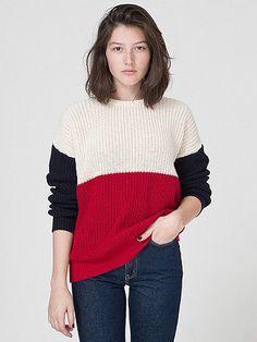 Unisex Color Block Fisherman's Pullover