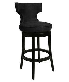Pastel 26-in. Augusta Swivel Counter Stool - Feher Black - Bar Stools at Hayneedle