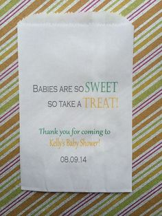 gender neutral babies are so sweet candy bags