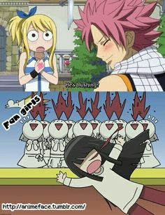 Natsu ♥ fairy tail.lolz but the anime nosebleed thing is so funny to me