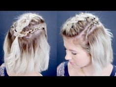 How To Dutch Viking Braids Short Hairstyle | Milabu - YouTube