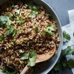 Farro Salad with Herbs and Raisins Recipe - Bon Appétit
