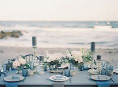 'Sea of Love' – Heavenly Beach Wedding Inspiration from Melanie Gabrielle Photography