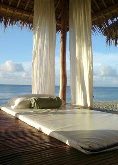 Beach Cabana. Grass hut by the ocean #beach #summer #relax #sea #ocean #vacation #happy #swim