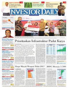 Investor Daily - 08 Agustus 2016 | Prioritaskan Infrastruktur Padat Karya | Investor Daily