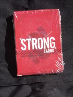 "Sealed Deck ""Strong"" Challenge Cards Spiritual Play Pray Study Train Serve"