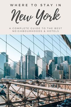 With so many different neighbourhoods and hotels to choose from, finding the right place to stay in New York can be a challenge so we are rounding up all the best areas to stay in New York. In this guide, we detail all the different neighbourhoods with pros and cons for each, plus hotels for every budget. #newyorkcity #nyctravel | best hotels in nyc | best hotels in new york city | nyc neighborhood guide | where to stay in NYC | where to stay in new york city | best neighborhoods in nyc Travel Advice, Travel Guides, Travel Tips, Luxury Travel, Travel Usa, Williamsburg Bridge, London Guide, New York City Travel, Rounding