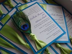 Peacock and Burlap Wedding Invitations Burlap Wedding