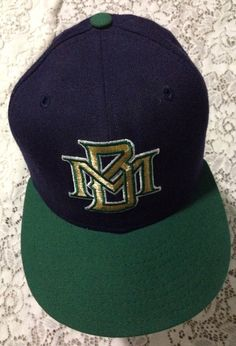 204b3673321 Items similar to Vtg New Era Milwaukee Brewers Fitted Baseball Wool Cap Hat  6 5 8 on Etsy