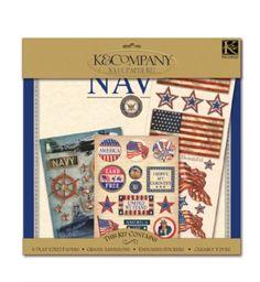 K and Company Paper Kits - Navy at Scrapbook.com $9.87