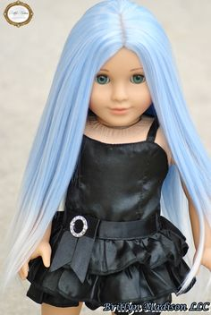 "Custom Marie Grace with an Exclusive Britlyn Madison ""Iced Periwinkle"" Premium doll wig"