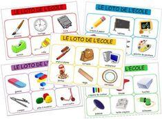 Loto des objets de l'école, loto materiel scolaire