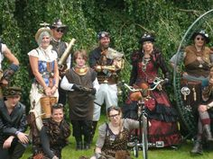 Fantastyval  2014 with members of The Steampunk Objective