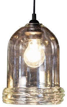 Osso Pendant Light, Clear, Medium - contemporary - Pendant Lighting - Frost Glass
