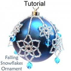 Falling Snowflakes Ornament PDF Beading Tutorial Pattern $6.00
