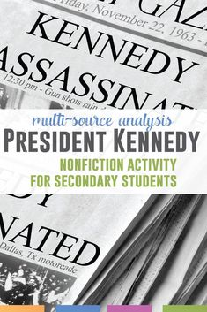 Read multiple perspectives from the day JFK died. Engage students with this tragedy through a nonfiction lens. This nonfiction activity is a week long lesson.