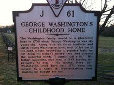 George Washington's Boyhood Home at Ferry Farm in Fredericksburg, VA