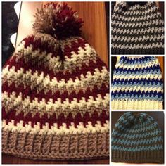 Slouch hat crocheted