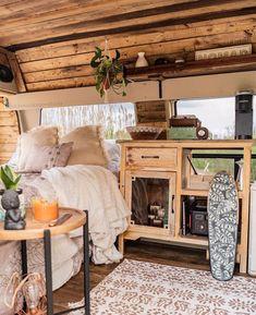 Caravan Home, Kombi Home, Tiny House Cabin, Tiny House Living, Casas Trailer, Van Interior, Interior Design, T3 Vw, Van Dwelling