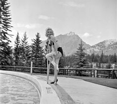 Marilyn in Canada during the filming of River of No Return, 1953. Photo by John Vachon.