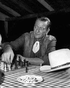 He loved to play chess in his downtime when he was filming a movie.