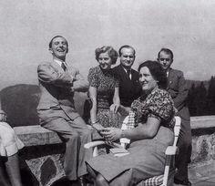 Joseph Goebbels, Albert Speer i Eva Braun w Berghofie.