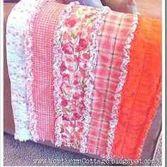 Ruffle RAG Quilt How-To.   Here is a tutorial for making your own cute rag quilt that would be adorable fora variety of occasions.