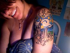 """I like this... OP says """"Starry night with Chicago's Sears Tower. It reads """"Ad Astra Per Aspera"""" in Latin, which translates roughly to """"To the stars through difficulty."""" (Inked by Kevin Harden of Ronin Tattoo, Illinois) You can find me at aurist.tumblr.com"""" (fyeahtattoos)"""
