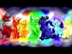Anime Wolves : Colors of the Rainbow