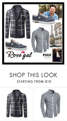 """""""Rosegal 81"""" by divi121314 ❤ liked on Polyvore featuring men's fashion, menswear, cardigan, men and rosegal"""