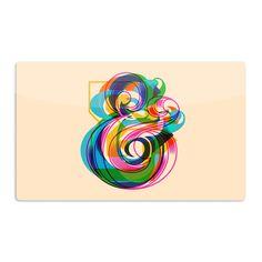 Kess InHouse Roberlan 'Champersands' Digital Typography Artistic Magnet