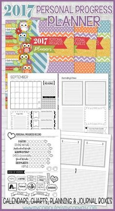 Printable Personal Progress Tracker, Planner for YW, LDS Young Women Organizational Printables #mycomputerismycanvas