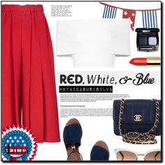 How To Wear Red, White and Blue Fashion Outfit Idea 2017 - Fashion Trends Ready To Wear For Plus Size, Curvy Women Over 20, 30, 40, 50