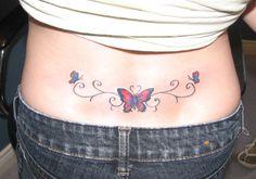 Lower Back Butterfly Tattoos For Women | 25 Tremendous Lower Back Tattoos For Women | CreativeFan