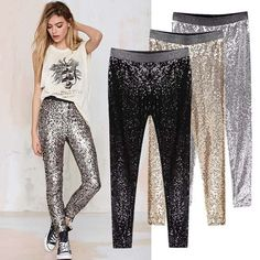 Cheap sequin pants, Buy Quality pencil pants directly from China skinny pencil pants Suppliers: Colysmo New Celeb Style Womens Stretchable Sparkle Metallic Shinning Full Sequined Pants Slim Skinny Pencil Pants Cheap Leggings, Women's Leggings, Cheap Pants, Trousers Women, Pants For Women, Clothes For Women, Slim Pants, Skinny Pants, Outfits Leggins
