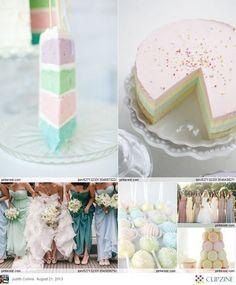 Very delicate wedding cake